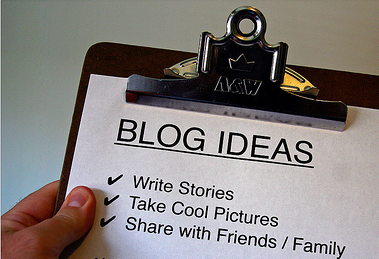 Use blog to market your business.